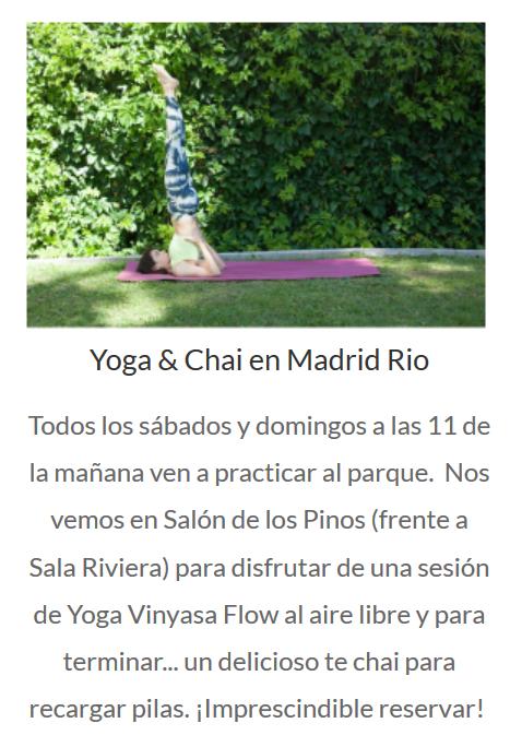 yoga en madrid rio