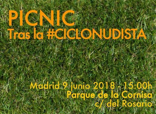 picnic tras la ciclonudista